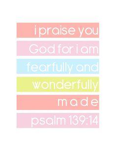 *Psalms Bible Verse Print