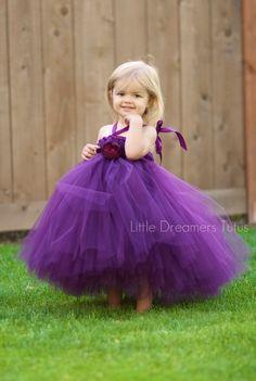 Perfectly beautiful little girl in her purple tutu