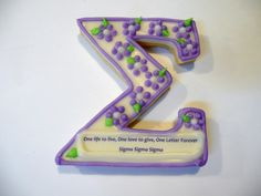 And you can't forget the Tri Sigma custom cut cookies!  Try something special...tri sigma.