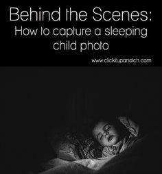 Tirar fotos de crs a dormir. How to capture a sleeping child photo