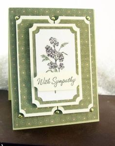 galleries, card idea, sympathy cards, green, backgrounds