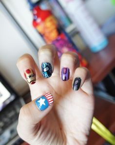 superhero nails!!