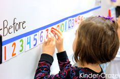 FREE download to create this cute interactive number line for your classroom
