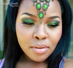 Green Arabic Inspired Makeup