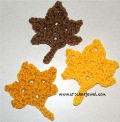 Crochet leaves pattern.