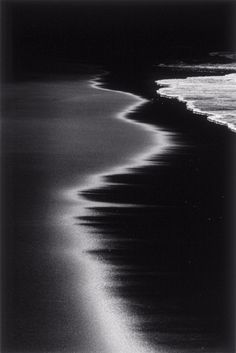 sandy beaches, the wave, the ocean, wayn levin, at the beach, black white, sea, night time, photography