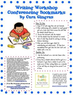 Writer's Workshop Conferencing Bookmarks. $