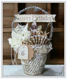 Birthday peat pot
