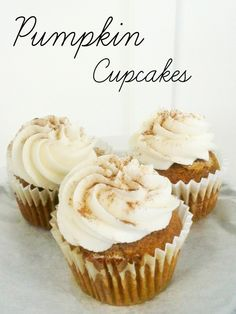 Pumpkin Cupcakes with Cream Cheese Buttercream
