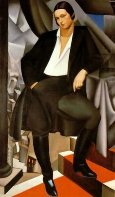 "Tamara de Lempicka  Polish/American  1898 - 1980  ""Portrait of the Duchess de la Salle"""