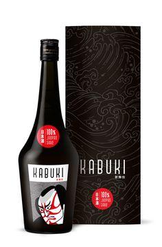 Kabuki, Japan Sake #sake #packaging, #illustration PD