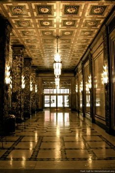 Fisher Building, Midtown Detroit.  an Art Deco masterpiece.