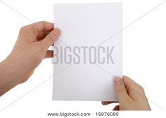 la hoja de papel blanco(a)