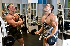 Hot muscle guys get me hot & in a naughty mood everytime I seem them wearing these muscle shirt tank tops while weightlifting at the gym. I got nice pes of my own, but hot damn so do they!