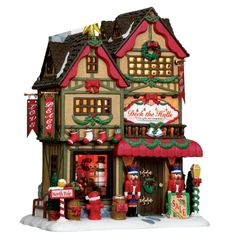 """Lemax 12"""" Porcelain Village Building Deck the Halls Christmas Shop ($36.99 Ace Hardware)"""