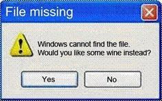 File Missing: Wine Instead?