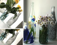 hand painted vase DIY project