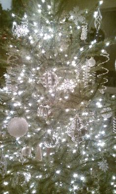 Silver & White Christmas Tree