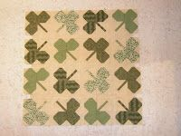 """Irish Quilting Patterns - especially like the """"string quilting"""""""