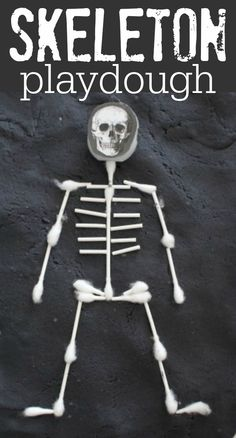 Skeleton Playdough:  So simple and fun!
