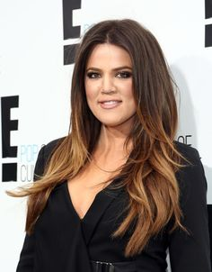 khloe kardashian odom long ombre hair with blonde tips is hot for fall 2013