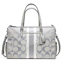 BABY BAG SIGNATURE STRIPE DOUBLE ZIP TOTE- or this!!!!!!