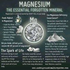 magnesium beneficial to  you...and you...and you...