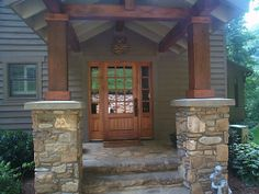 Add stones to entryway