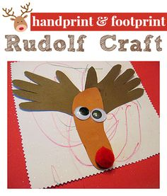 Rudolf Craft For Kids - great for toddlers !