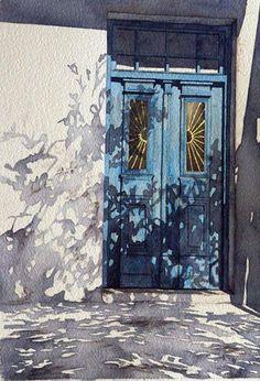 Beautiful Watercolor. Perfect Shadows.