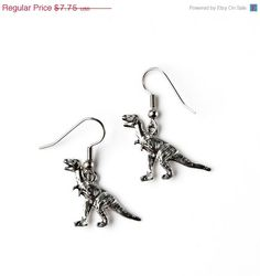On Sale Now Dinosaur Earrings - Accessories - Women's Jewelry - Gift Idea - Handmade - Gift Box Included