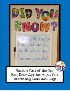 The Teacher Next Door: Creative Ideas from My Classroom to Yours.: Random Fact of the Day App