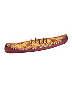 Look at this #zulilyfind! Canoe Cribbage Board #zulilyfinds