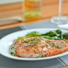 Maple Mustard Baked Salmon recipe