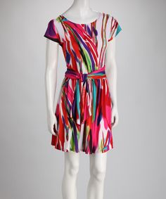 Take a look at this Pink Paint Dress by Ice Silk on #zulily today!