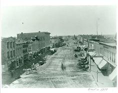 East Grand Avenue in Beloit, WI from 1877.  Courtesy of Beloit Historical Society.