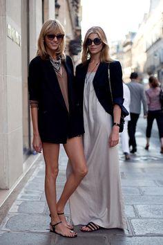 love the white dress and blazer...