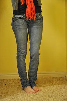 How to make jeans smaller or just skinnies!    Cotton and Curls