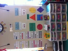Math wall with my new 10 frames!
