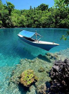 Beautiful Clear Waters in Ternate Island, North Maluku, Indonesia