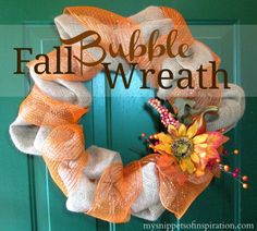 Fall Bubble Wreath - easy, cute, beautiful!