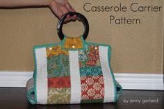 Casserole carrier pattern