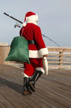 Santa Claus is coming to beach