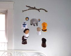 Star Wars Mobile  Baby Crib Mobile  Nursery Bedding by FoxFluff