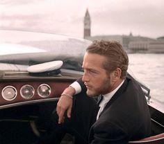 Paul Newman in Venice, 1963.