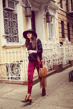 Bohemian fashion inspiration via Natalie Off Duty. Always need a touch of fringe...