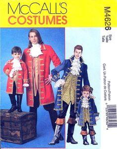 "McCall's 4626 Boy's ""Gentleman"" Pirate Costume 2004"