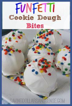 Funfetti Cookie Dough Bites