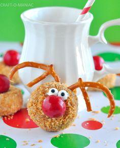 Rudolph Donut Wholes #christmastreats #forthekids