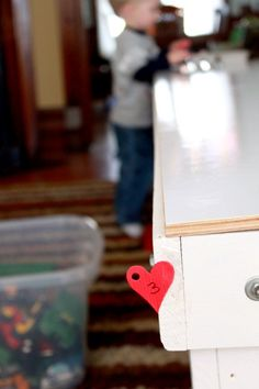 Go on a Valentine's Day scavenger hunt to match up numbers
